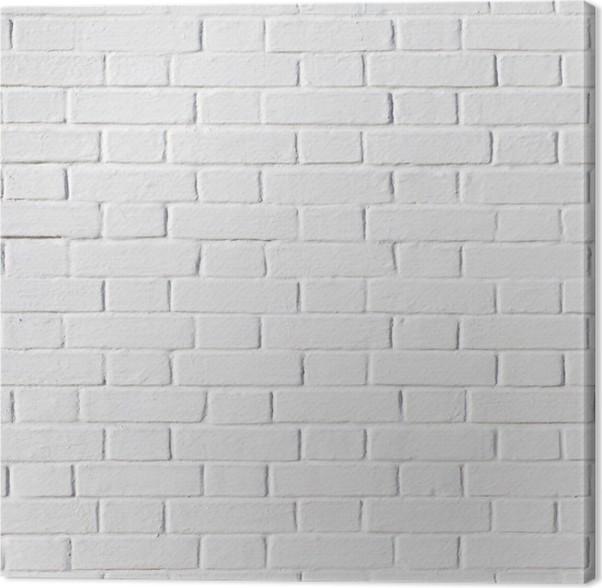 tableau sur toile mur de briques blanc grunge pixers nous vivons pour changer. Black Bedroom Furniture Sets. Home Design Ideas
