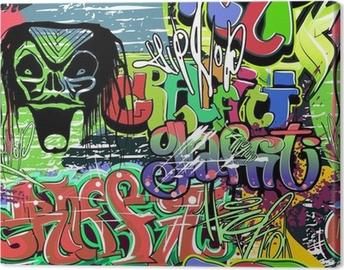 Tableau sur toile Mur de graffiti seamless vecteur