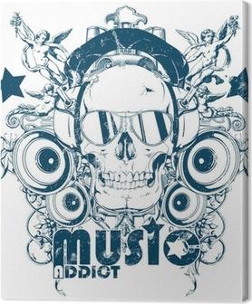 Tableau sur toile Musique addict