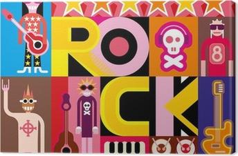 Tableau sur toile Musique hard rock