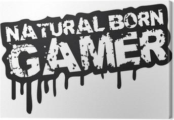 Tableau sur toile Natural Born Gamer Stempel Graffiti