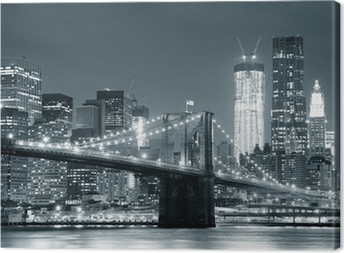 Tableau sur toile New york city brooklyn bridge