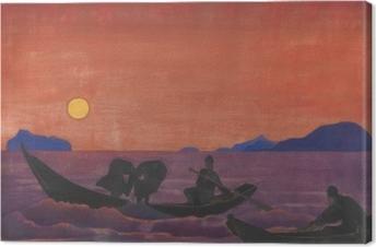 Tableau sur toile Nicolas Roerich - Et nous continuons à pêcher
