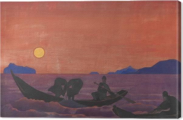 Tableau sur toile Nicolas Roerich - Et nous continuons à pêcher - Nicholas Roerich