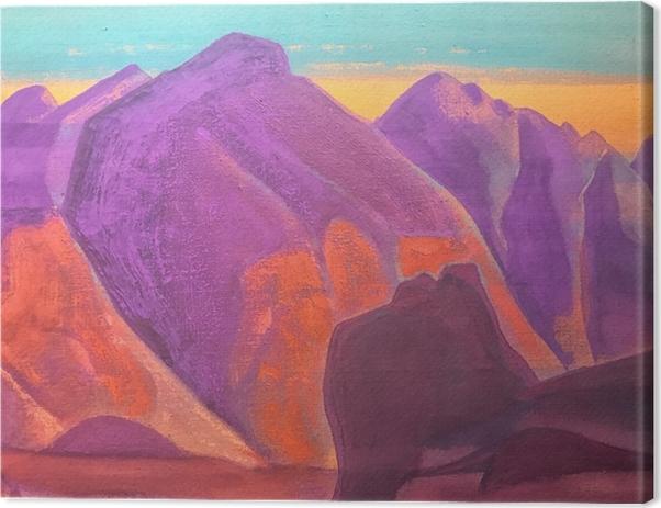 Tableau sur toile Nicolas Roerich - Étude de montagne II - Nicholas Roerich