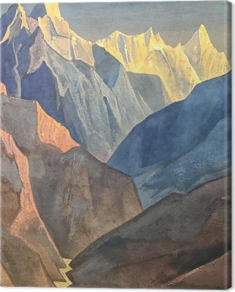 Tableau sur toile Nicolas Roerich - Étude de montagne - Nicholas Roerich