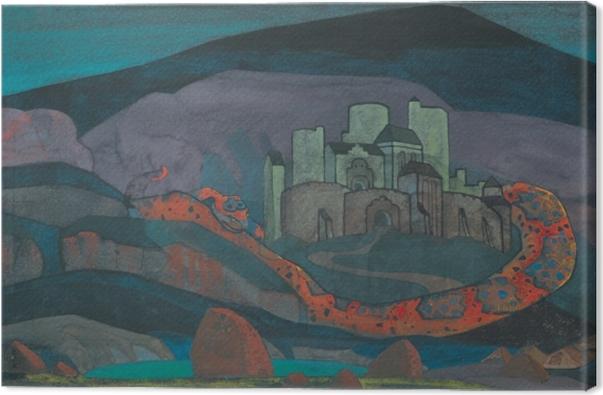 Tableau sur toile Nicolas Roerich - La ville sinistrée - Nicholas Roerich