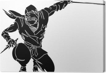 Tableau sur toile Ninja combattant - vecteur EPS illustration. Toutes les vinyl-ready.