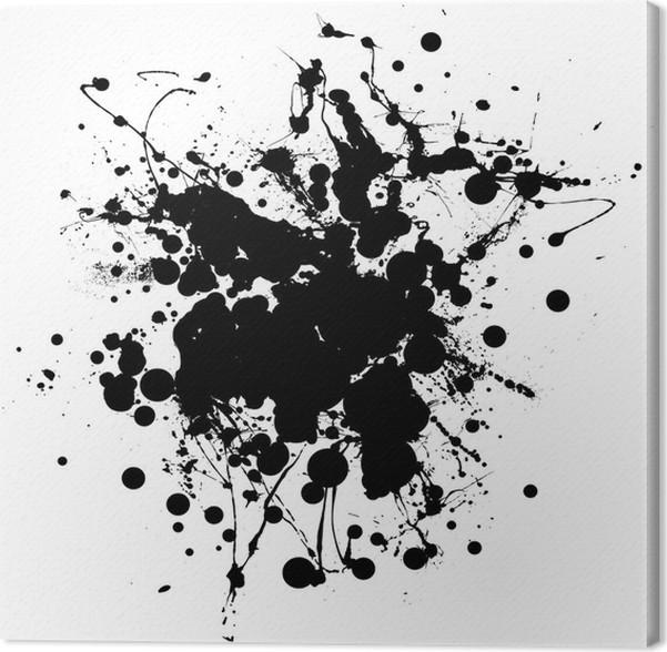 tableau sur toile noir et blanc splat d 39 encre avec salle d 39 ajouter copie pixers nous vivons. Black Bedroom Furniture Sets. Home Design Ideas