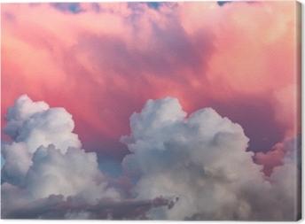 Tableau sur toile Nuages au coucher du soleil