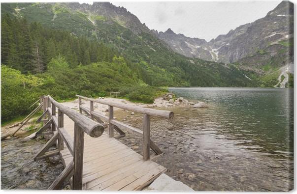 tableau sur toile oeil du lac mer dans les montagnes des tatras pologne pixers nous vivons. Black Bedroom Furniture Sets. Home Design Ideas