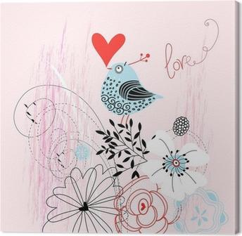Tableau sur toile Oiseau d'amour