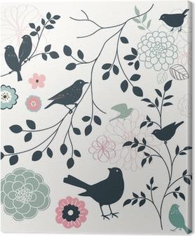 Tableau sur Toile Oiseau et fleur