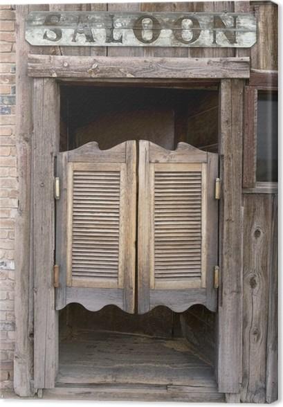 tableau sur toile old western saloon portes battantes avec connexion pixers nous vivons. Black Bedroom Furniture Sets. Home Design Ideas