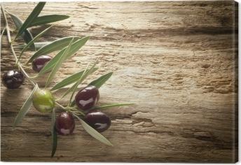 Tableau sur toile Olives