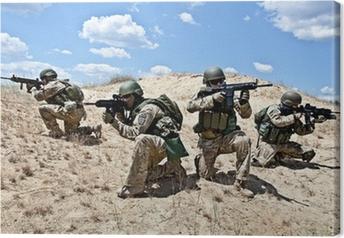 Tableau sur toile Opération militaire