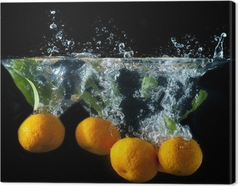 Tableau sur toile Orange splash