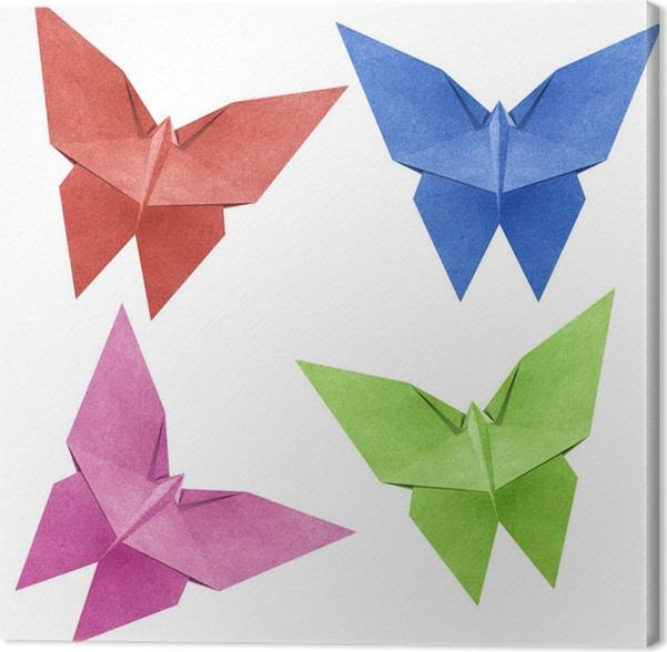 Tableau sur toile Origami papillon Papercraft de recyclage • Pixers ...