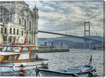 Tableau sur toile Où rencontre de deux continents: istanbul