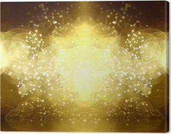 Tableau sur toile Paillettes d'or