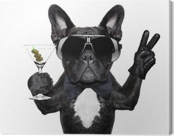 Tableau sur Toile Paix cocktail chien