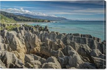 Tableau sur toile Pancake Rocks, Punakaiki, côte Ouest, Nouvelle-Zélande