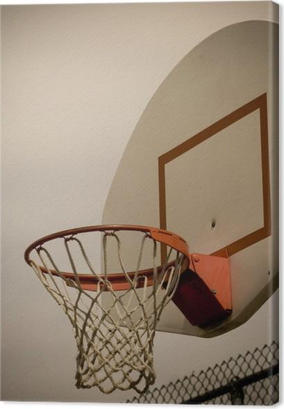e5781c692a54a Tableau sur toile Panier de basket Vertical • Pixers® - Nous vivons ...
