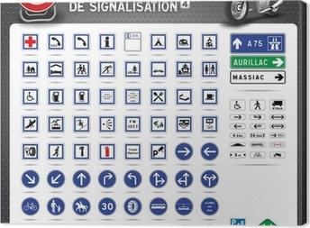 Tableau sur toile Panneaux de signalisation routière de n ° 4