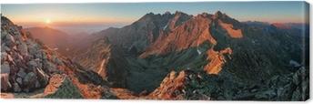 Tableau sur toile Panorama automne paysage de montagne