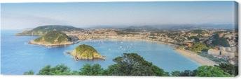 Tableau sur toile Panorama de la Baie de San Sebastian Donostia, Espagne.