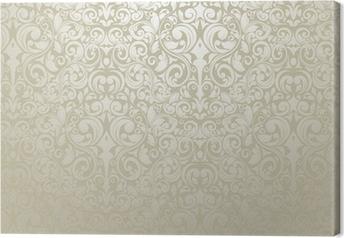 Tableau sur toile Papier peint argente