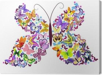 Tableau sur toile Papillon de papillons