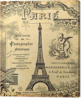 Tableau sur toile Paris 1900