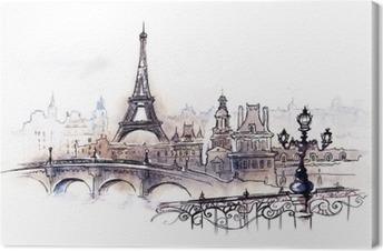 Tableau sur Toile Paris (série C)
