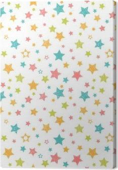 Tableau sur toile Pattern mignon avec des étoiles. print élégant avec la main dessinée
