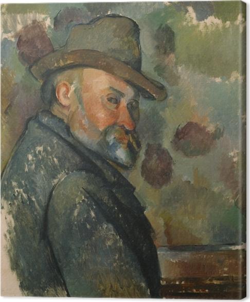 Tableau sur toile Paul Cézanne - Autoportrait - Reproductions