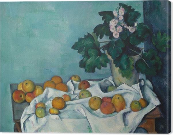 Tableau sur toile Paul Cézanne - Fruit sur un tissu - Reproductions