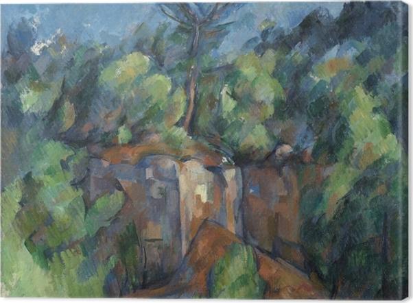 Tableau sur toile Paul Cézanne - La carrière de Bibémus - Reproductions