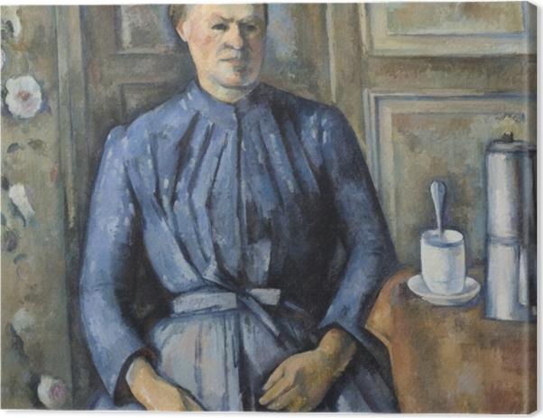 Tableau sur toile Paul Cézanne - La Femme à la cafetière - Reproductions