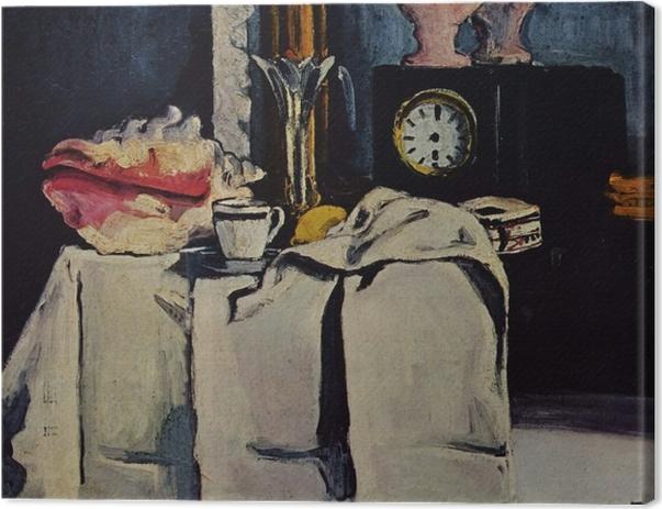 Tableau sur toile Paul Cézanne - La Pendule noire - Reproductions