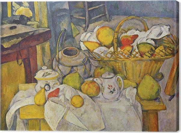 Tableau sur toile Paul Cézanne - La table de cuisine - Reproductions