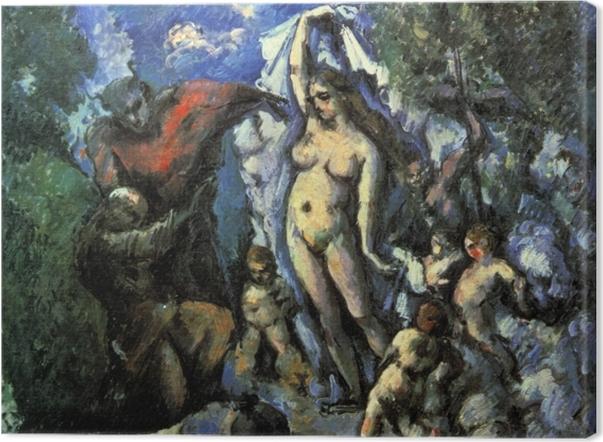 Tableau sur toile Paul Cézanne - La tentation de saint Antoine - Reproductions