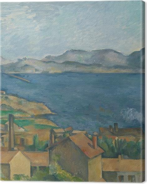 Tableau sur toile Paul Cézanne - Le golfe de Marseille vu de L'Estaque - Reproductions