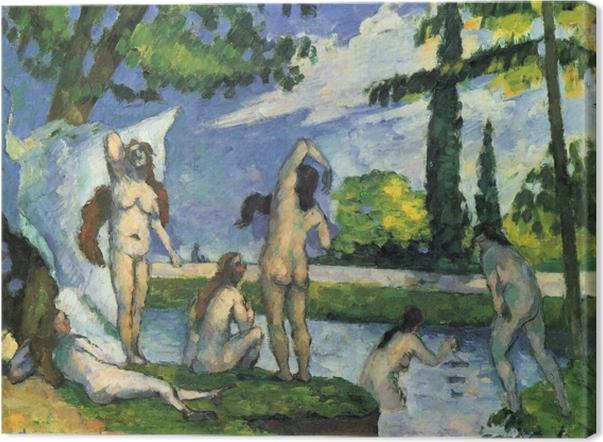 Tableau sur toile Paul Cézanne - Les Baigneurs - Reproductions