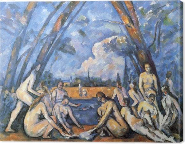 Tableau sur toile Paul Cézanne - Les Grandes Baigneuses - Reproductions