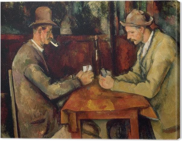 Tableau sur toile Paul Cézanne - Les Joueurs de cartes - Reproductions