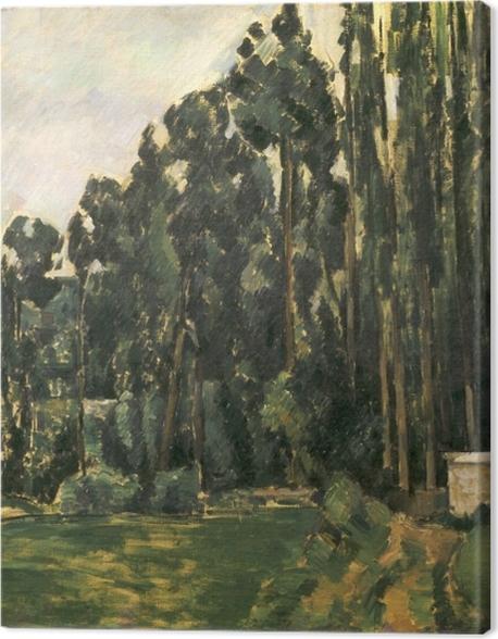 Tableau sur toile Paul Cézanne - Les peupliers - Reproductions