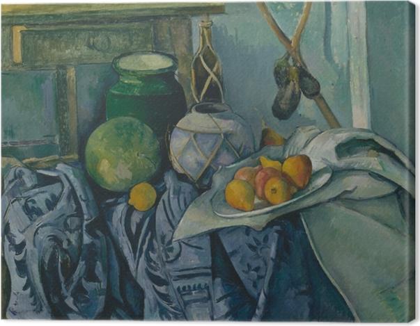 Tableau sur toile Paul Cézanne - Nature morte aux aubergines - Reproductions