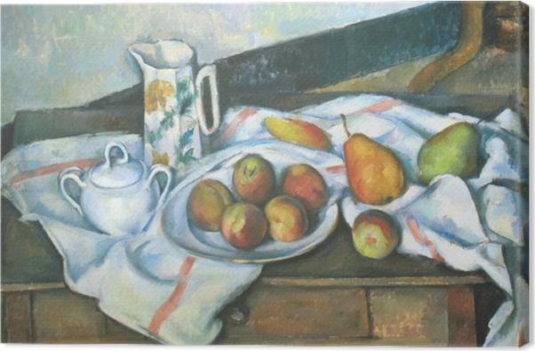 Tableau sur toile Paul Cézanne - Nature morte (Pêches et poires) - Reproductions