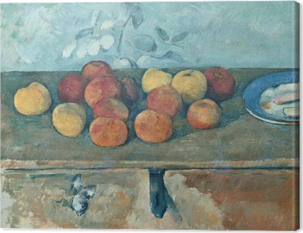 Tableau sur toile Paul Cézanne - Pommes et biscuits - Reproductions